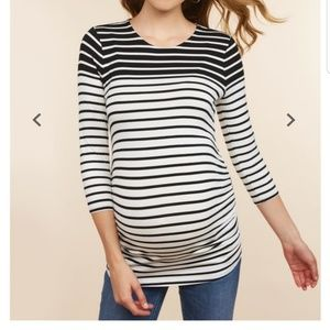 Jessica Simpson Striped Maternity Shirt